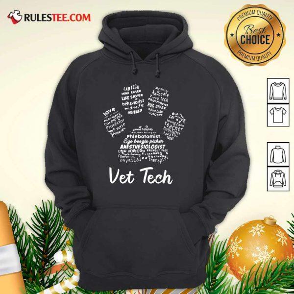 Vet Tech Paw Print Hoodie - Design By Rulestee.com