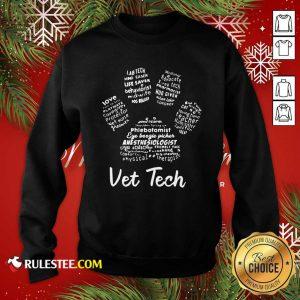 Vet Tech Paw Print Sweatshirt - Design By Rulestee.com