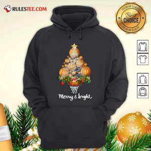 Volleyball Merry And Bright Christmas Tree Hoodie - Design By Rulestee.com