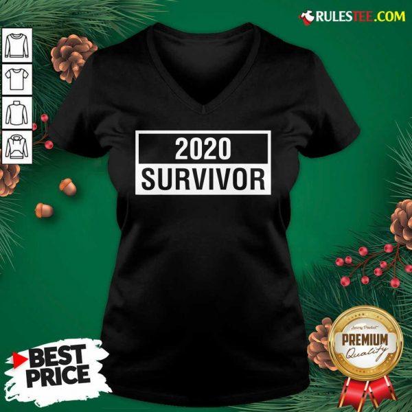 Premium 2020 Survivor V-neck - Design By Rulestee.com