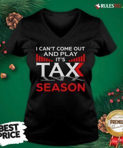 I Can't Come Out And Play Its Tax Season V-neck - Design By Rulestee.com