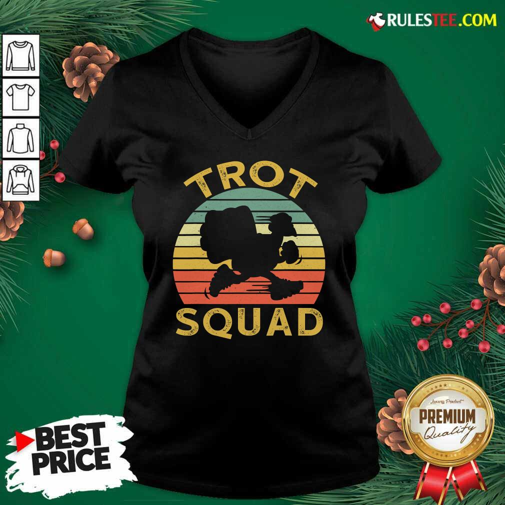 Trot Squad Thanksgiving Turkey Trot Costume Vintage V-neck - Design By Rulestee.com