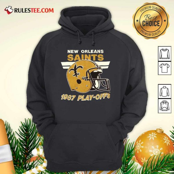 1987 New Orleans Saints Playoffs Vintage Hoodie - Design By Rulestee.com