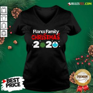 Flores Christmas 2020 Mask Corona Virus V-neck - Design By Rulestee.com