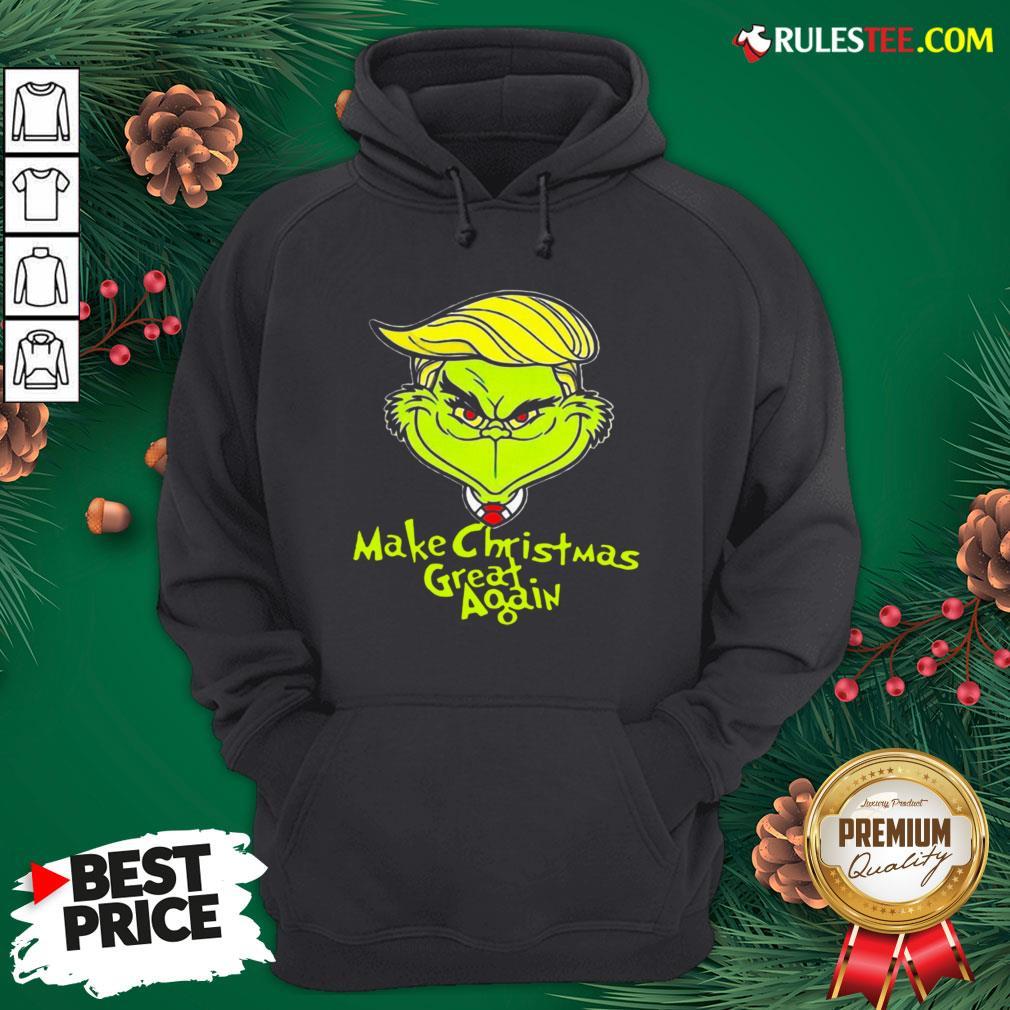 Pretty Grinch Trump Make Christmas Great Again Hoodie  - Design By Rulestee.com