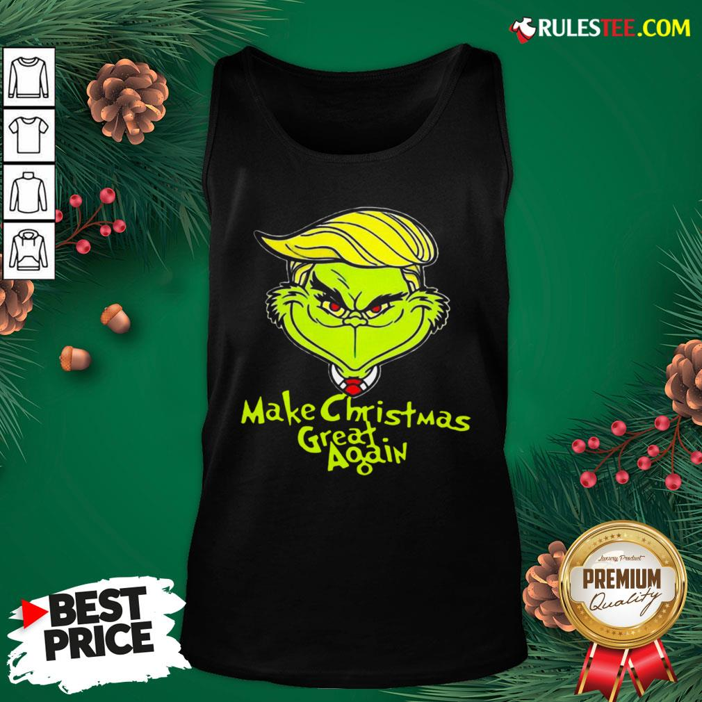 Pretty Grinch Trump Make Christmas Great Again Tank Top  - Design By Rulestee.com