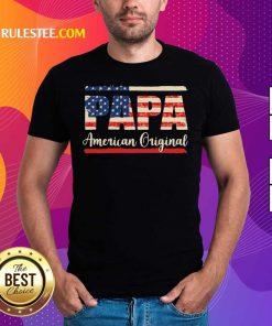 Papa American T-Shirt - Design By Rulestee.com