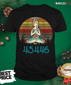 Top 45446 Beige AF 45% Against 45 Yoga Namaste Shirt - Design By Rulestee.com