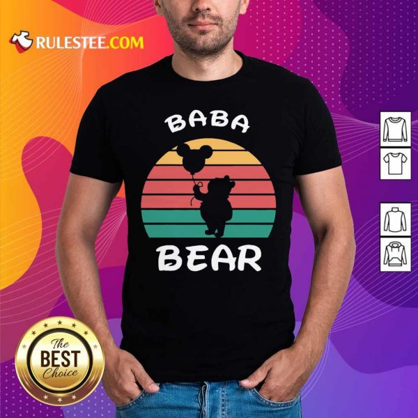Baba Bear Disney Vintage Retro Shirt - Design By Rulestee.com
