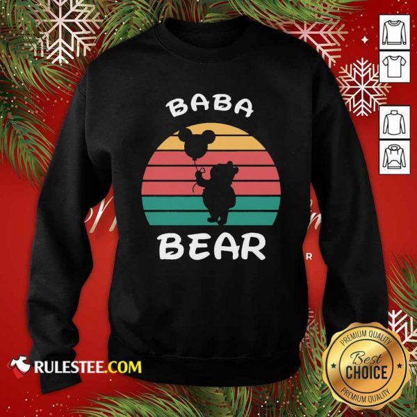 Baba Bear Disney Vintage Retro Sweatshirt - Design By Rulestee.com