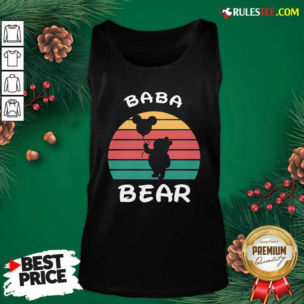 Baba Bear Disney Vintage Retro Tank Top - Design By Rulestee.com