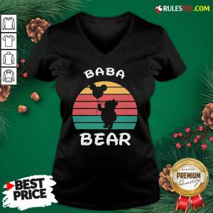 Baba Bear Disney Vintage Retro V-neck - Design By Rulestee.com
