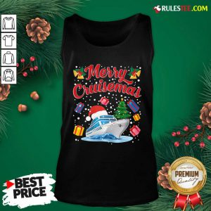 Merry Cruisemas Family Cruise Christmas 2020 Santa Hat Tank Top - Design By Rulestee.com