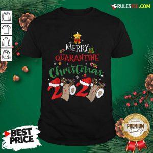 Merry Quarantine Christmas 2020 Pajamas Christmas Shirt - Design By Rulestee.com