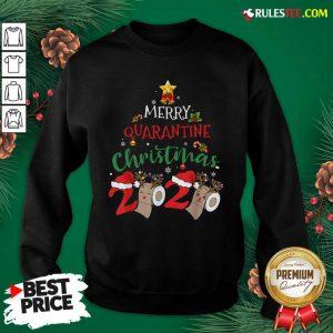 Merry Quarantine Christmas 2020 Pajamas Christmas Sweatshirt - Design By Rulestee.com
