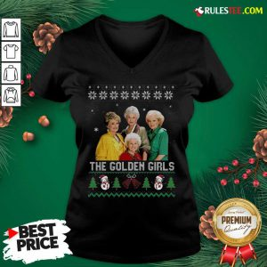 The Golden Girls Ugly Merry Christmas V-neck - Design By Rulestee.com
