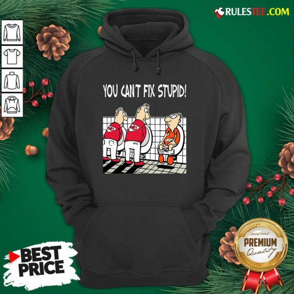 You Can't Fix Stupid Funny Kansas City Chiefs NFL Hoodie- Design By Rulestee.com