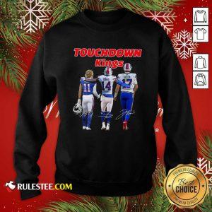 Buffalo Bills Touchdown Kings Cole Beasley 11 Stefon Diggs 14 Josh Allen 17 Signatures Sweatshirt - Design By Rulestee.com