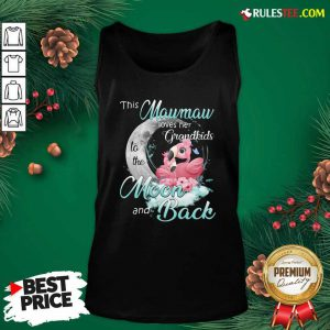 Flamingo This Mawmaw Loves Her Grandkids To The Moon And Back Tank Top - Design By Rulestee.com