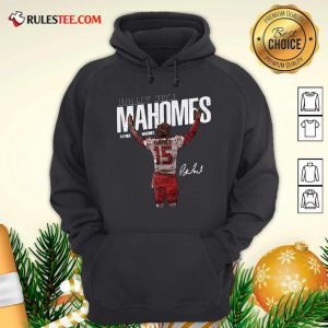 Rollin With Mahomes Patrick Mahomes Signature Hoodie - Design By Rulestee.com
