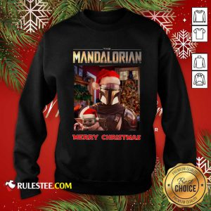 Star Wars The Mandalorian And Baby Yoda Merry Christmas Sweatshirt - Design By Rulestee.com