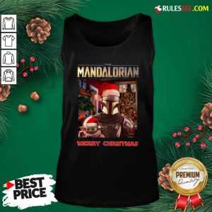 Star Wars The Mandalorian And Baby Yoda Merry Christmas Tank Top - Design By Rulestee.com