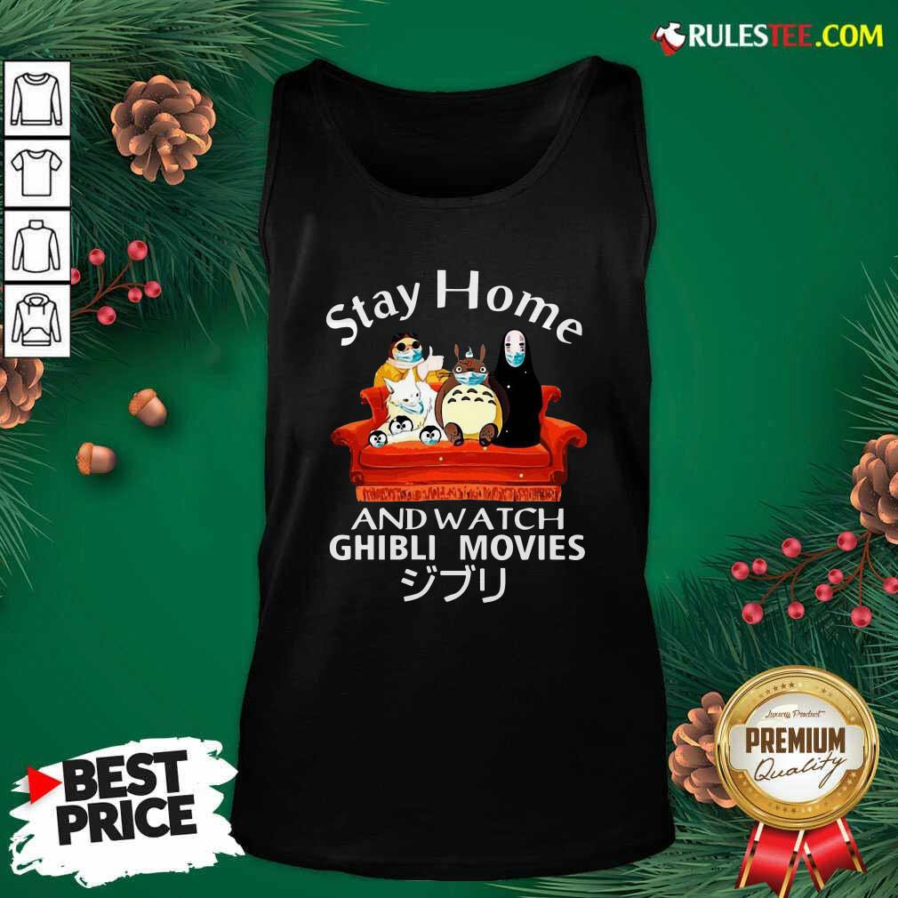 Stay Home And Watch Ghibli Movies Face Mask Tank Top - Design By Rulestee.com
