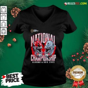 Alabama Crimson Tide Vs Ohio State Buckeyes College Football Playoff 2021 V-neck - Design By Rulestee.com