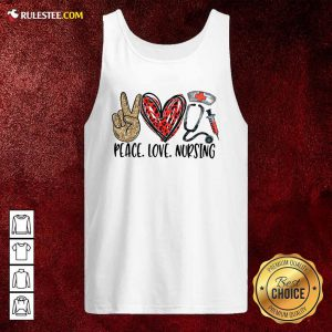 Diamond Peace Love And Nursing 2021 Tank Top - Design By Rulestee.com