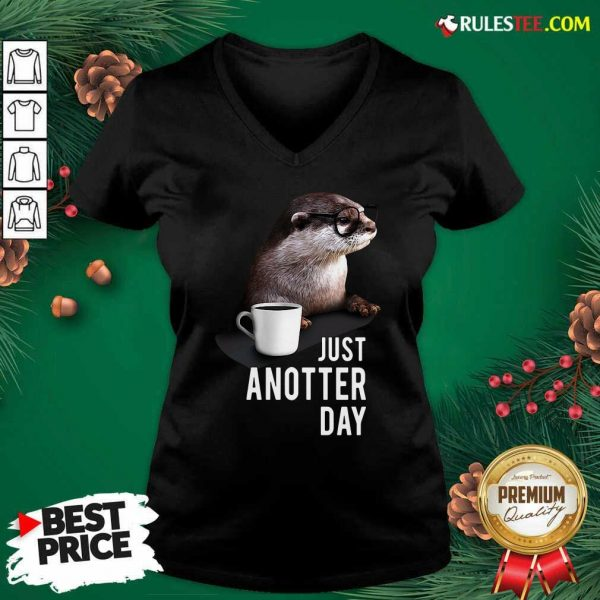 Otter Just Anotter Day V-neck - Design By Rulestee.com
