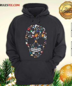 Skull Guitars Hoodie - Design By Rulestee.com