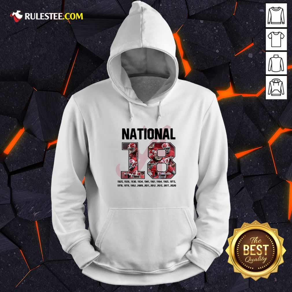 18 Time National Alabama Crimson Tide Hoodie - Design By Rulestee.com