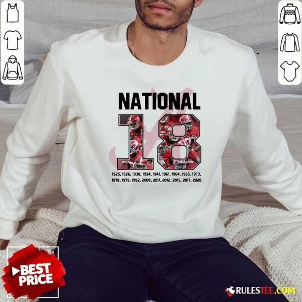 18 Time National Alabama Crimson Tide Sweatshirt - Design By Rulestee.com