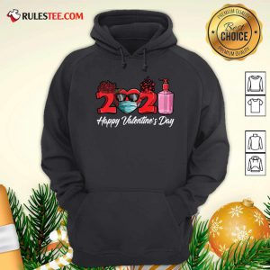 2021 Face Mask Happy Valentines Day Hoodie - Design By Rulestee.com