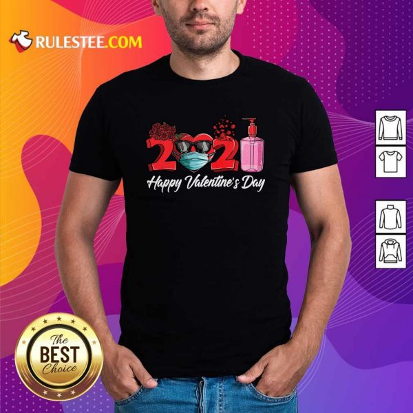 2021 Face Mask Happy Valentines Day Shirt- Design By Rulestee.com