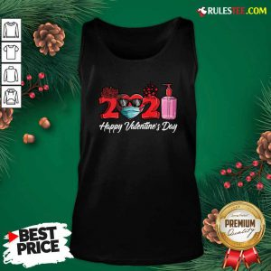2021 Face Mask Happy Valentines Day Tank Top - Design By Rulestee.com