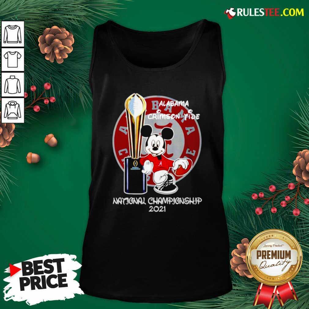 Alabama Crimson Tide Mickey Mouse NCAA National Championship 2021 Tank Top - Design By Rulestee.com