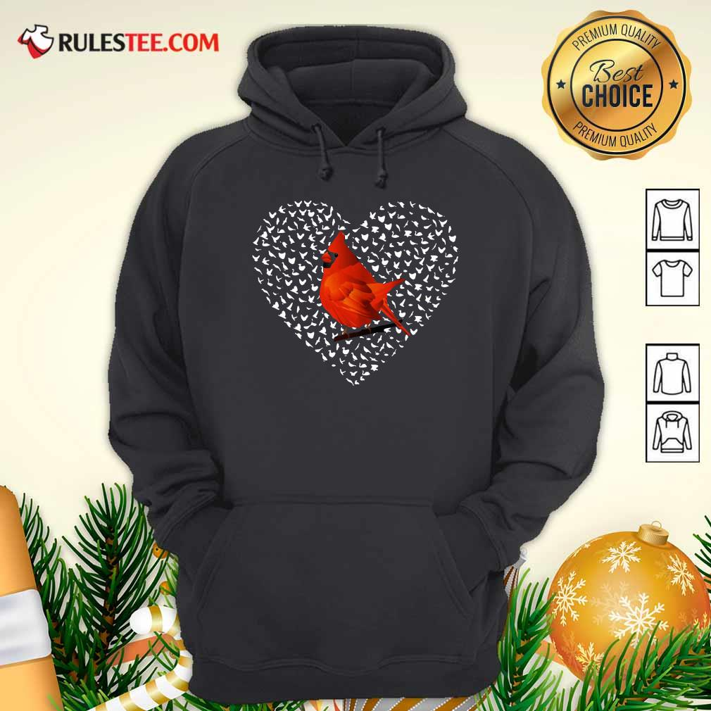 Cardinal Heart Personalized Hoodie - Design By Rulestee.com