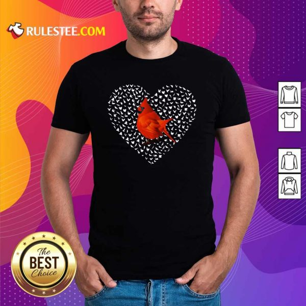 Cardinal Heart Personalized Shirt - Design By Rulestee.com
