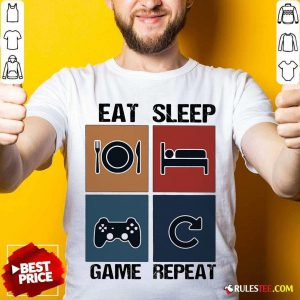 Eat Sleep Game Repeat Vintage Shirt - Design By Rulestee.com