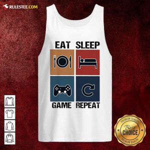 Eat Sleep Game Repeat Vintage Tank Top - Design By Rulestee.com