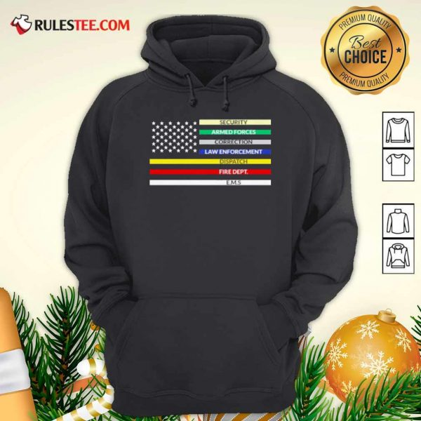 First Responder American Flag Hoodie - Design By Rulestee.com