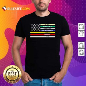 First Responder American Flag Shirt - Design By Rulestee.com