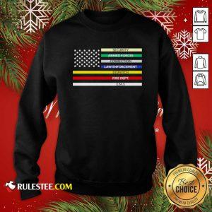 First Responder American Flag Sweatshirt - Design By Rulestee.com