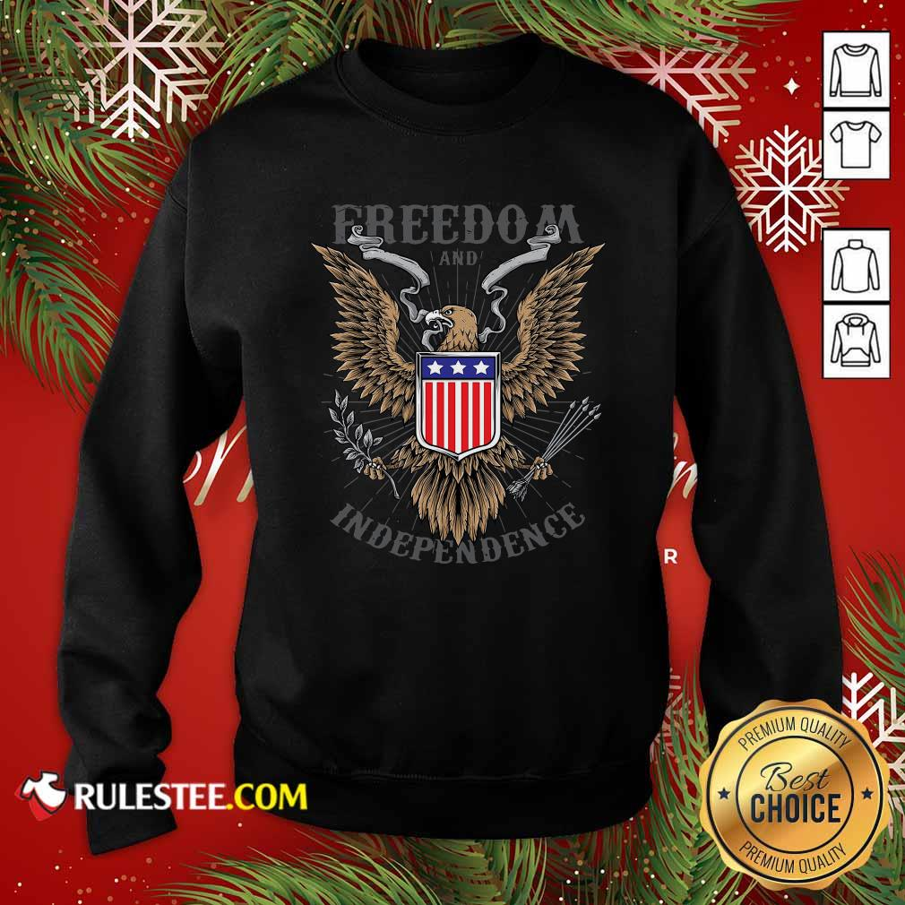 Freedom And Independence Eagle American Flag Sweatshirt - Design By Rulestee.com