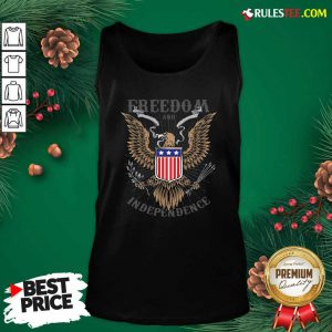 Freedom And Independence Eagle American Flag Tank Top - Design By Rulestee.com