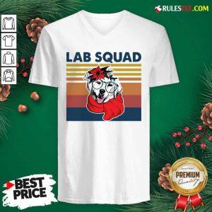 Labrador Lab Squad Duck Hunting Vintage V-neck - Design By Rulestee.com