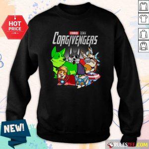 Marvel Avengers Corgi Corgivengers Sweatshirt - Design By Rulestee.com