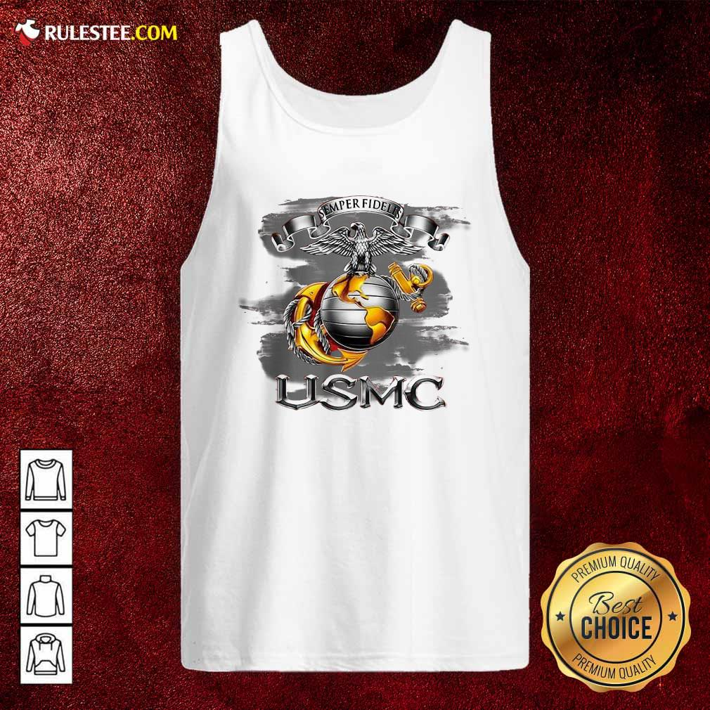 Semper Fidelis Usmc Tank Top - Design By Rulestee.com