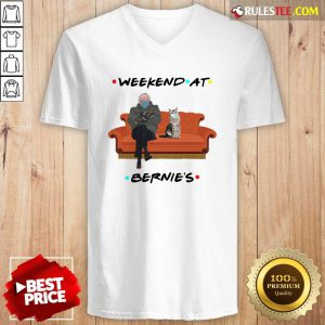 Weekend At Bernies V-neck - Design By Rulestee.com